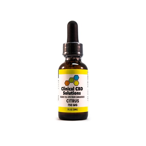 Clinical CBD Solutions - Organic Full Spectrum Cannabinoid - Citrus Front